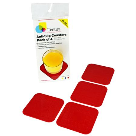 Tenura Coasters Red (Pk of 4) MA75372