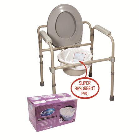 Cleanis Classic Care S Bag Disposable Bedside Commode Liner CM77002