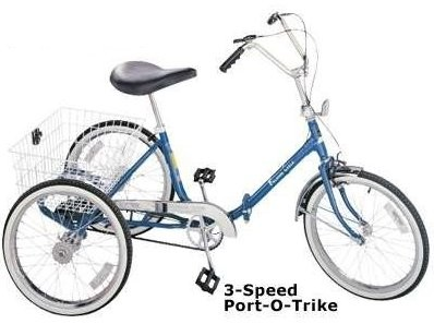 Bikes 3 Wheel Adult Adult Three Wheel Trike BLUE
