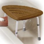 Teak Adjustable Height Bath Stool DR12350