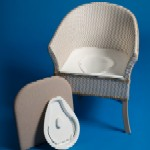 Derby Basketweave Commode Chair HPS5504