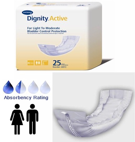 Dignity Active Disposable Urinary Incontinence Pads