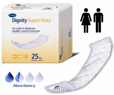 Dignity Super Duty Incontinence Pads HI26955