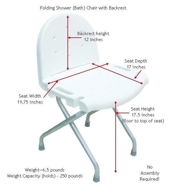 Outstanding Folding Shower Chair With Backrest Machost Co Dining Chair Design Ideas Machostcouk