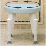 Rotating Seat Height Adjustable Shower Stool MA72715