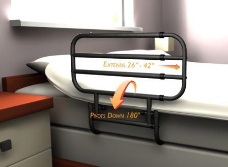 EZ Adjust Bed Rail ST8000 - EZ Adjust Adjustable Length Bed Rail - Elderstore.com
