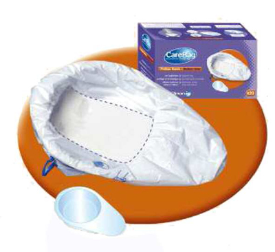 Cleanis Care Bag Disposable Bed Pan or Elongated Commode Liners CM77003